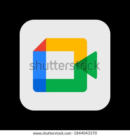 Google Meet. App Icon. Vector Illustration