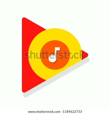 Google music icon. Vector illustration. EPS 10.