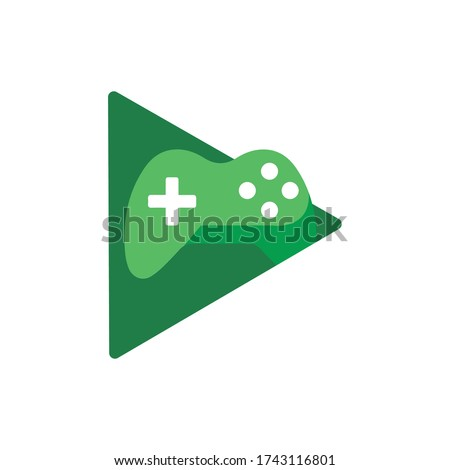 Google play games application icon. Social network. Social media icon.