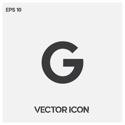 Google vector logo.Modern typographic G letter icon vector. Premium quality.