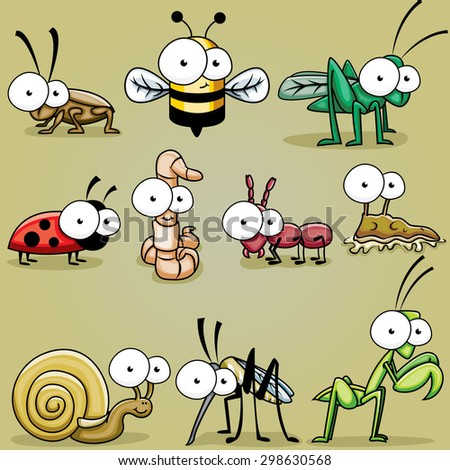 googly eyed insect bugs  roach