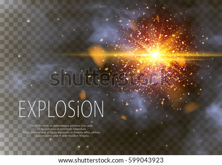 Goold glitter particles background effect. Light effect in an explosion on a black background. Vector illustration 3D, of realistic vector, EPS 10.