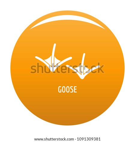 Goose step icon. Simple illustration of goose step vector icon for any design orange