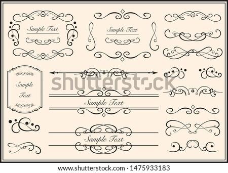 Gorgeous european decoration frame illustration