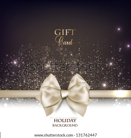 gorgeous gift card with white