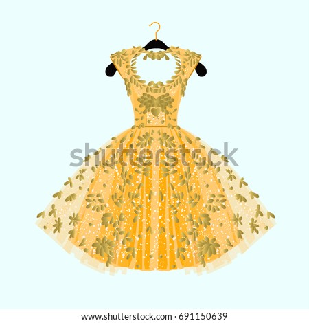 gorgeous golden dress party