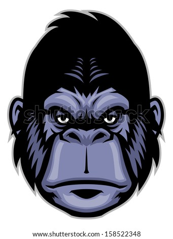 Gorilla vector head - photo#14
