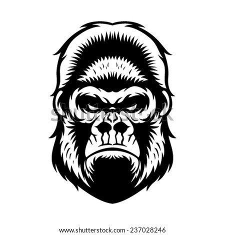gorilla head vector graphic