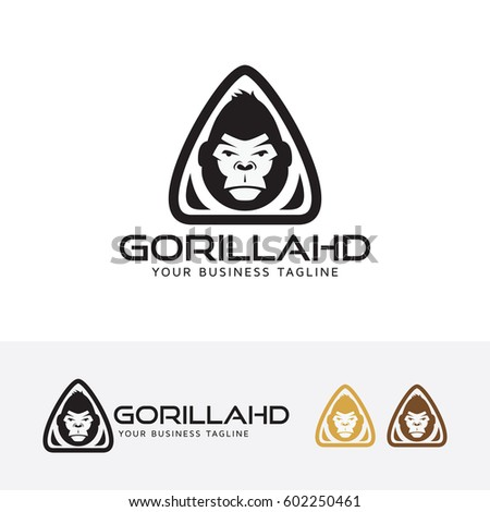 gorilla head  vector logo