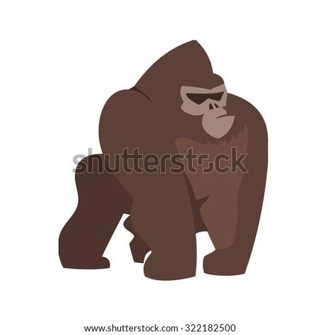 gorilla  monkey  animal icon