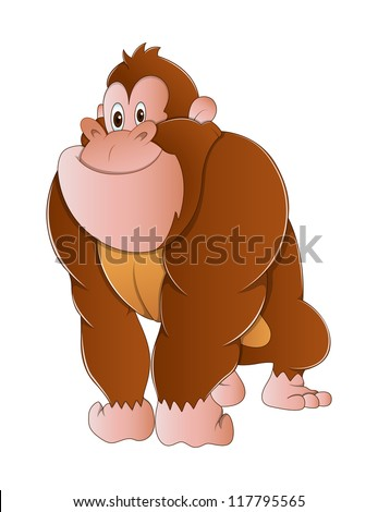 gorilla monkey vector