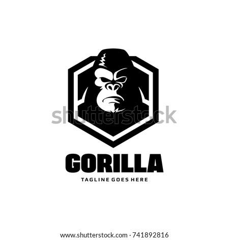 Gorilla Shield Logo - King Kong Vector