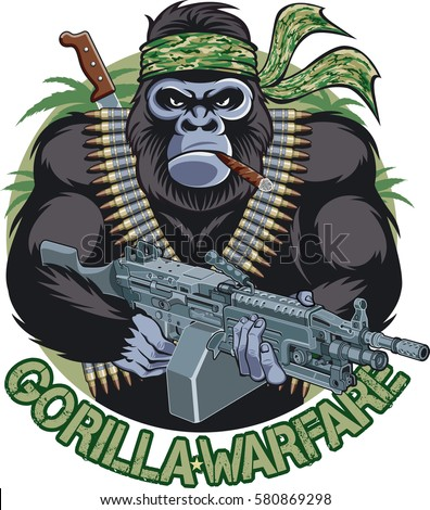 gorilla with bandana  cigar