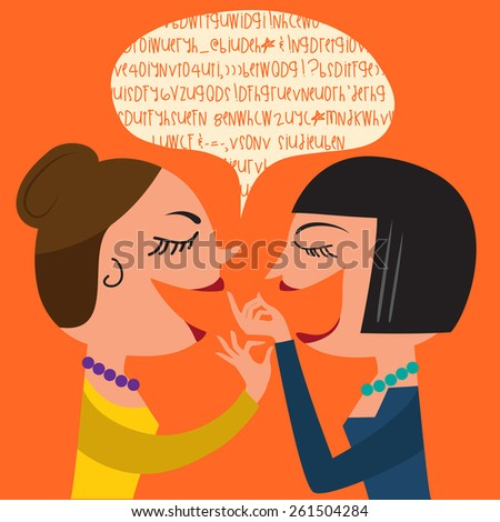 gossiping women  illustration