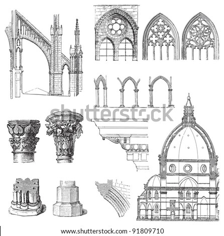 gothic building style  ...
