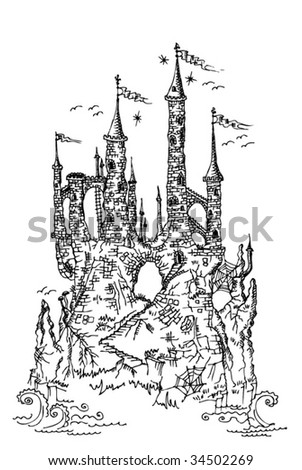gothic castle from fairytale