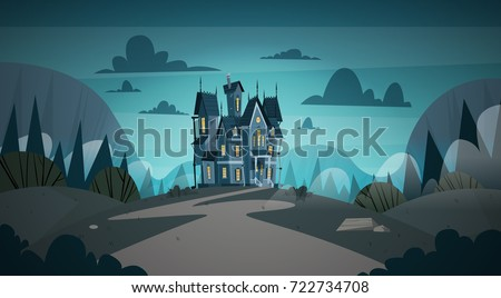 gothic castle house in