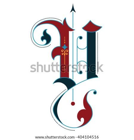 gothic initial y