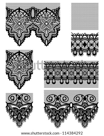 Gothic Style Lace Seamless Lace Patterns.