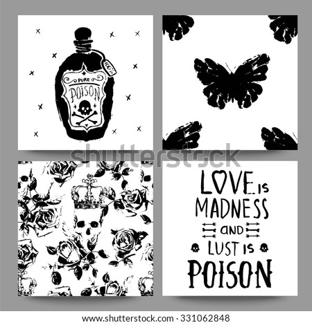 gothic trendy romantic cards