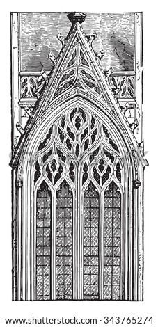 gothic window of the late...