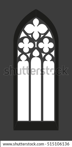 gothic window   silhouette