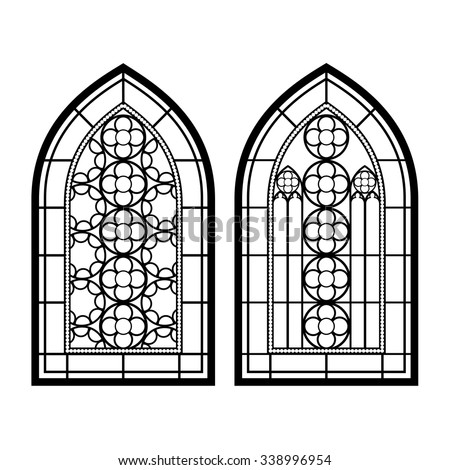 gothic windows. vintage frames. ...
