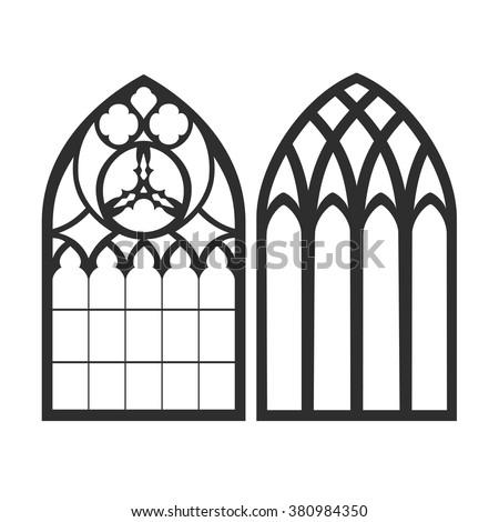 gothic windows vintage frames