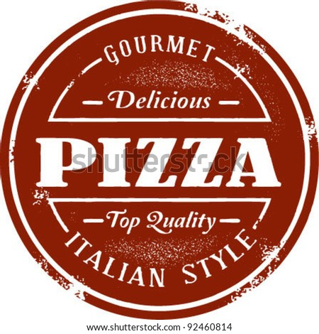Gourmet Pizza Vintage Stamp