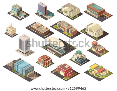 government building isometric