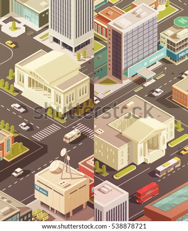 government buildings isometric