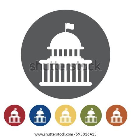 Government icon set.Vector illustration