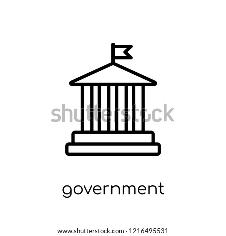 Government icon. Trendy modern flat linear vector Government icon on white background from thin line United States of America collection, editable outline stroke vector illustration