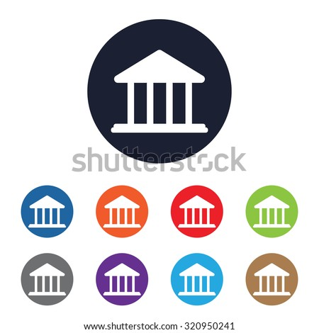 Government vector icon for web and mobile