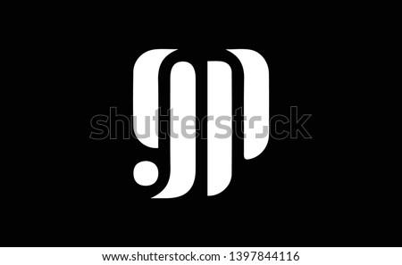 GP logo design template vector illustration Stock fotó ©