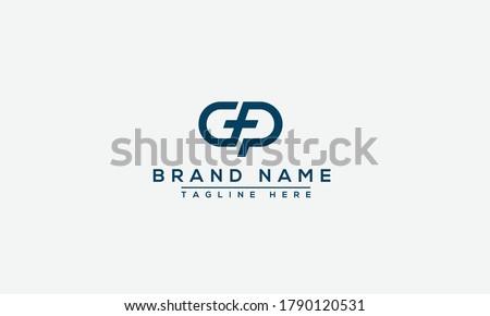 GP, PG Logo Design Template Vector Graphic Branding Element. Stock fotó ©