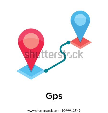 Gps icon vector isolated on white background for your web and mobile app design, Gps logo concept #1099913549