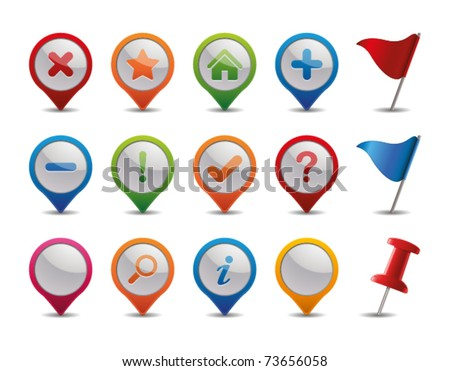 GPS Icons. - stock vector