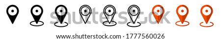 GPS location. Map pointer icon. Travel and tourism. Isolated over white background. Vector illustration Foto stock ©