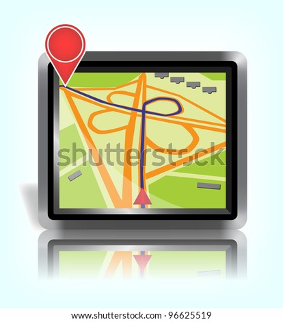 GPS map, 10eps vector.