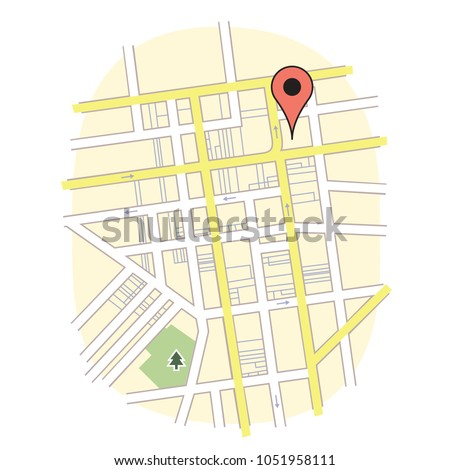 GPS Map Marker Pin