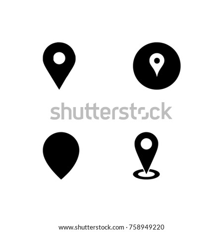 GPS.navigator pin checking black color on transparent background. vector illustration, 256x256 Pixel Perfect