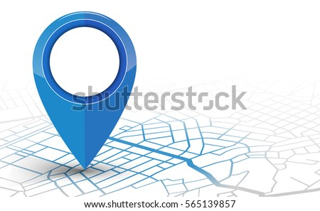 GPS.navigator pin checking blue color on white background. vector illustration