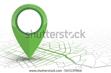 GPS.navigator pin checking green color on white background. vector illustration