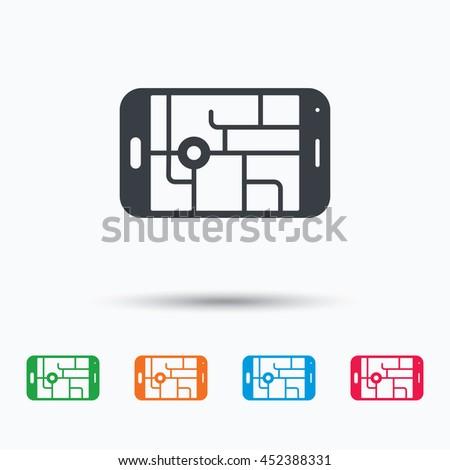 gps street navigation icon