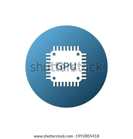 GPU icon. Vector illustration for graphic design, Web, UI, app.