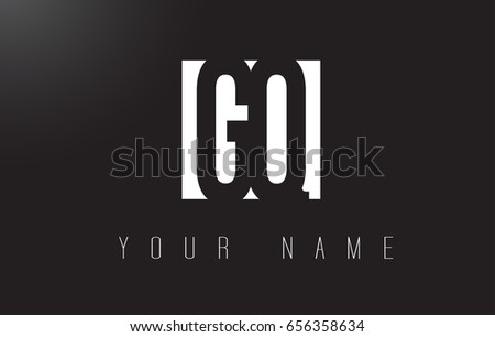 GQ Letter Logo With Black and White Letters Negative Space Design.