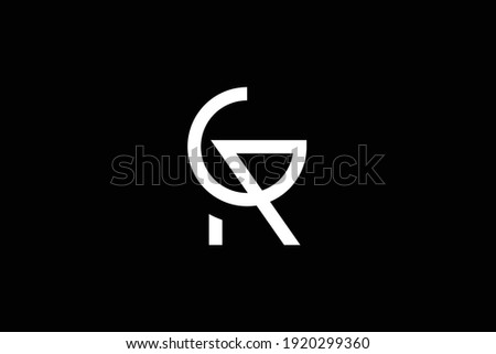 gr letter logo design on luxury