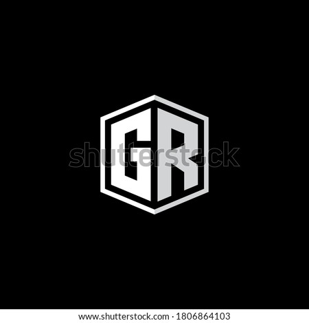 gr logo design vector