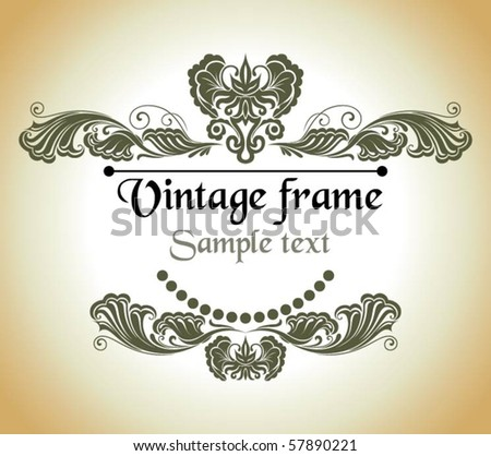 Graceful vintage frame